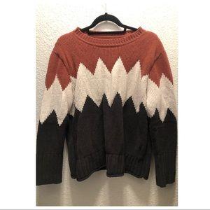 thick chevron sweater